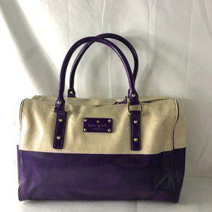 Kate Spade Patent Leather Beige/Purple Handbag